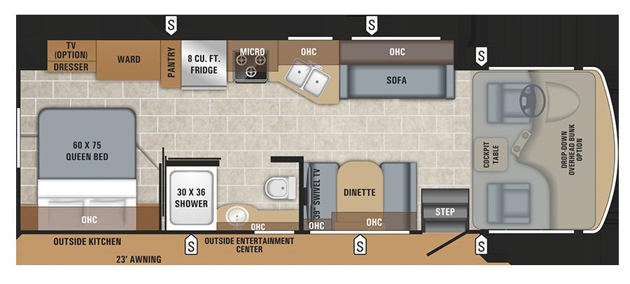 Jayco Alante 29S floor plan.