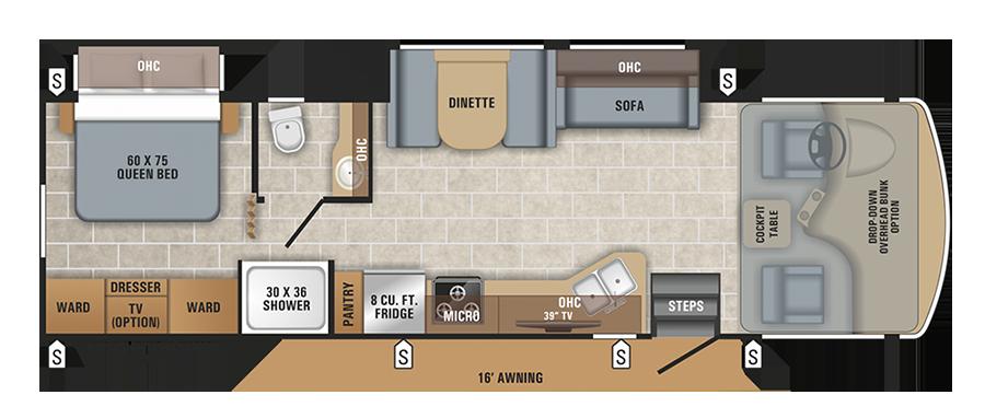 Jayco Alante 31V floor plan.