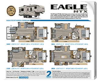 Jayco Eagle HTX Fifth Wheel Brochure