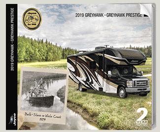 Jayco Greyhawk Class C motorhome brochure