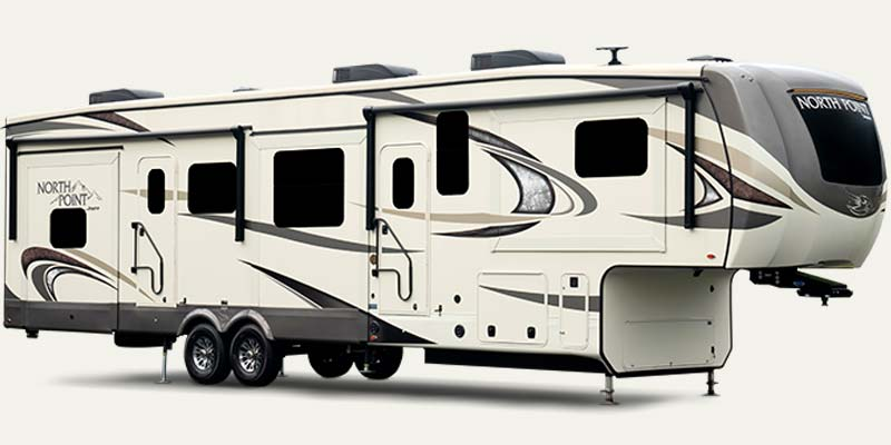 Jay North Point luxury fifth wheels.