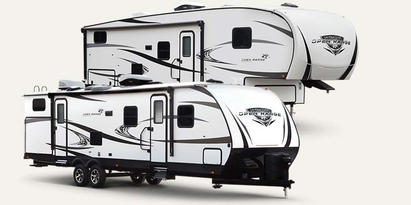 Open Range Ultra Lite fifth wheels and travel trailers by Highland Ridge.
