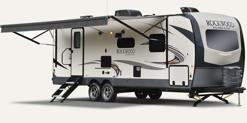 Forest River Rockwood Ultra Lite travel trailers.