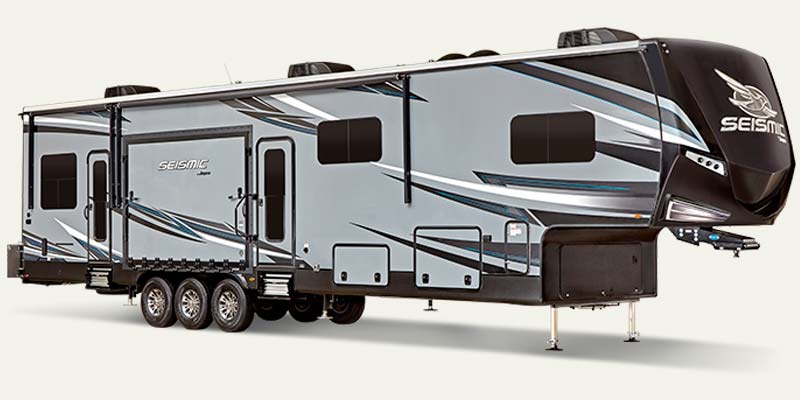 Jayco Seismic luxury toy hauler fifth wheel