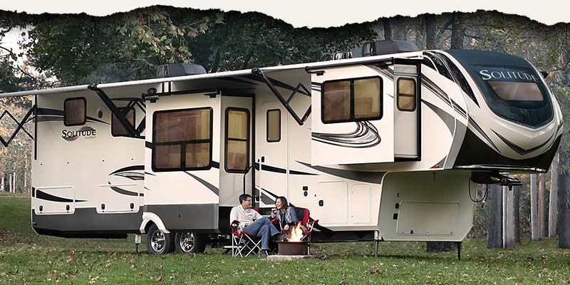 Grand Design Solitude luxury residential fifth wheels.