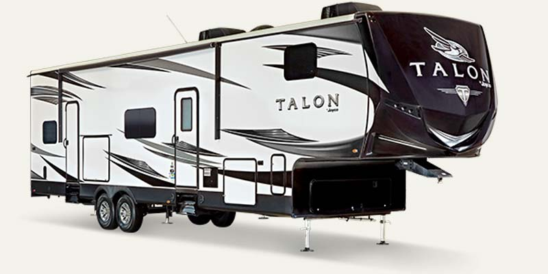 Jayco Talon fifth wheel toy haulers.