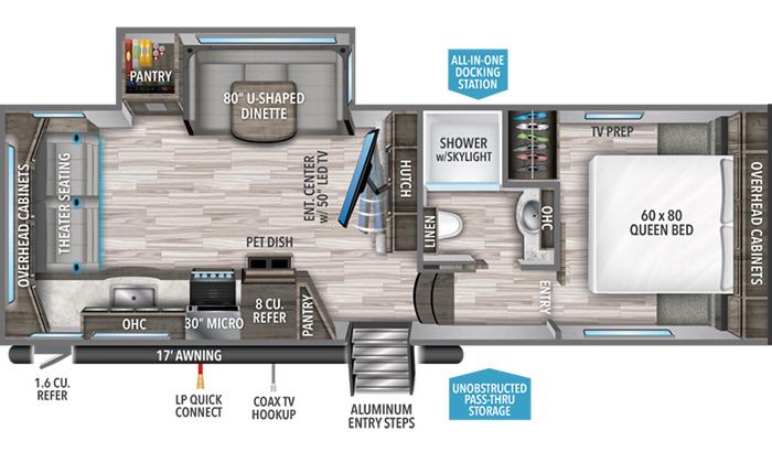 Reflection 240RL floor plan diagram