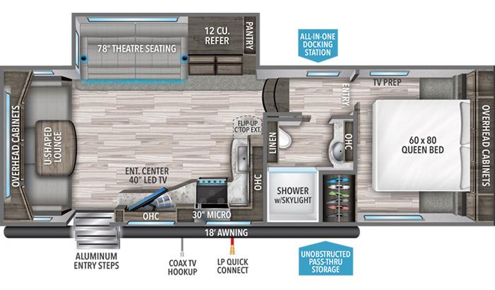 Reflection 260RD floor plan diagram