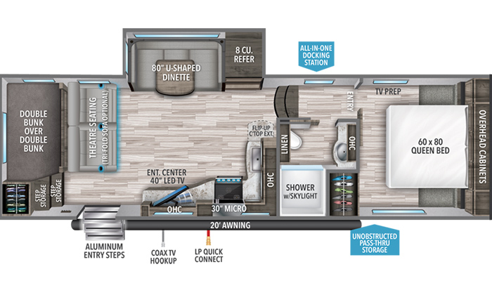 Reflection 268BH floor plan diagram
