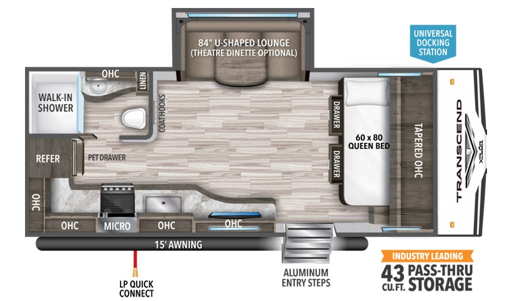 Transcend XPLOR 187MK floor plan diagram.