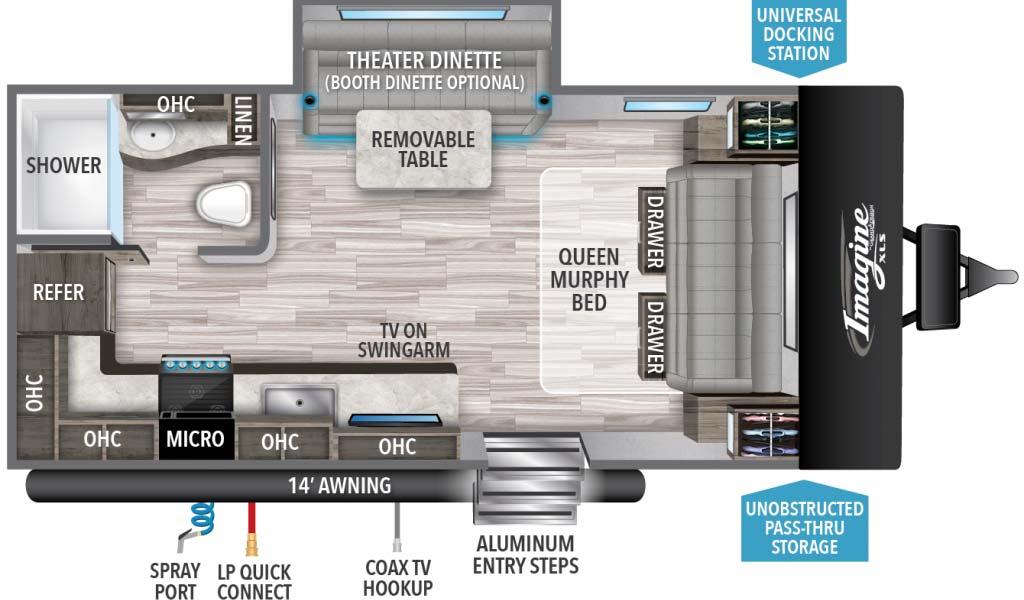 Grand Design Imagine XLS 17MKE Floorplan