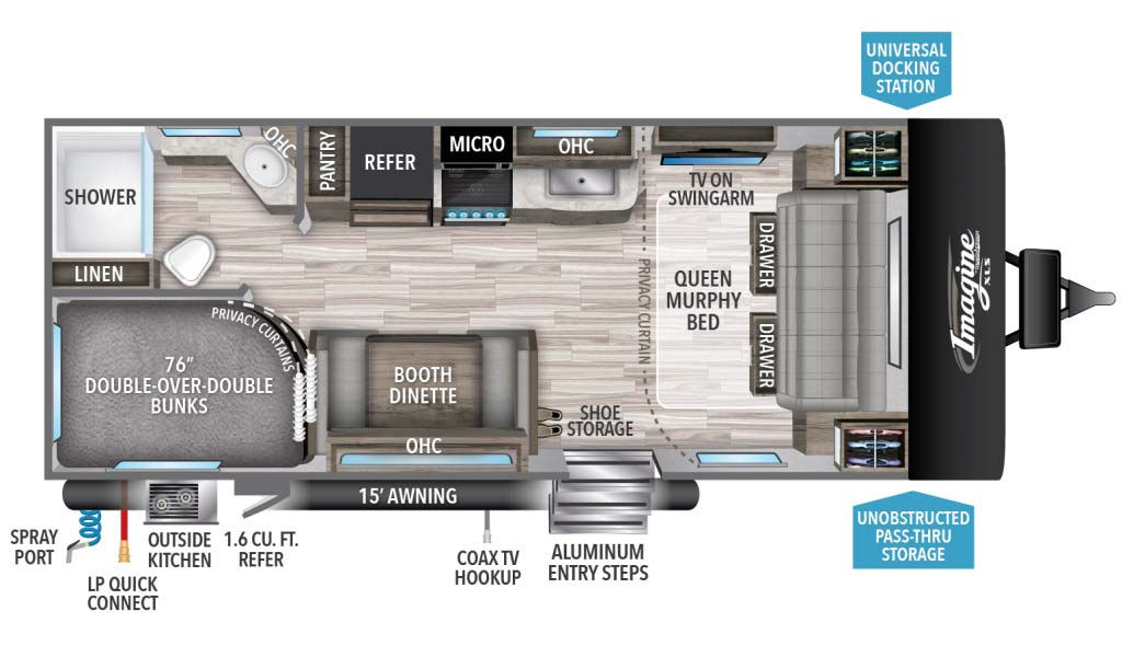 Grand Design Imagine XLS 21BHE Floorplan