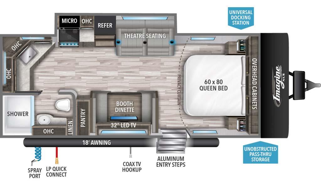Grand Design Imagine XLS 22MLE Floorplan