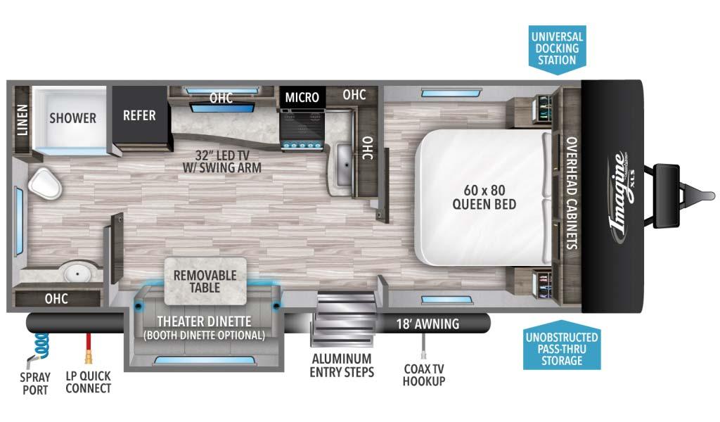 Grand Design Imagine XLS 22RBE Floorplan