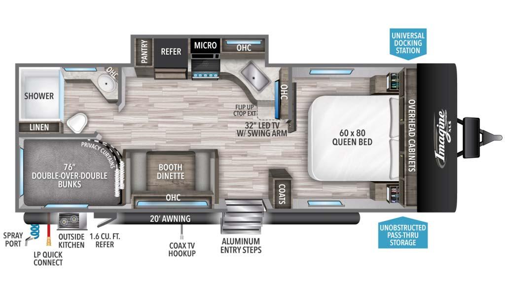 Grand Design Imagine XLS 23BHE Floorplan
