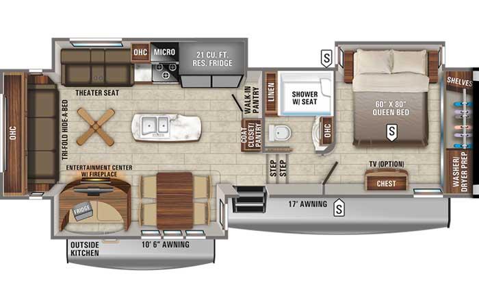 2021 Jayco Eagle 317RLOK FW floor plan diagram