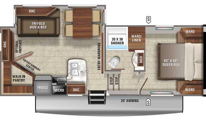 2021 Jayco Eagle HT 24RE FW floor plan diagram
