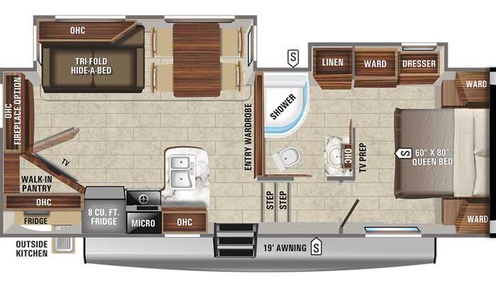 2021 Jayco Eagle HT 25.5REOK FW floor plan diagram