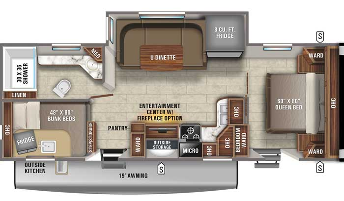 2021 Jayco Eagle HT 264BHOK TT floor plan diagram
