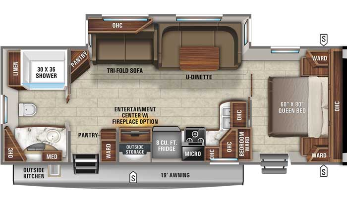 2021 Jayco Eagle HT 272RBOK TT floor plan diagram