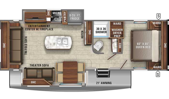 2021 Jayco Eagle HT 274CKDS TT floor plan diagram