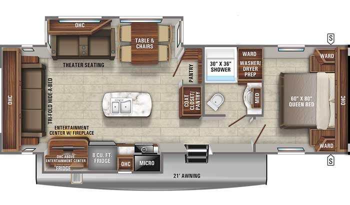 2021 Jayco Eagle HT 280RSOK TT floor plan diagram