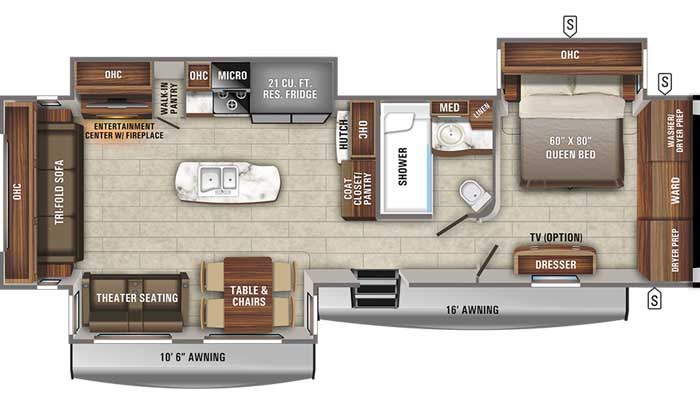 2021 Jayco Eagle 330RSTS TT floor plan diagram