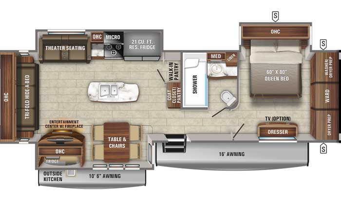 2021 Jayco Eagle 334RLOK TT floor plan diagram