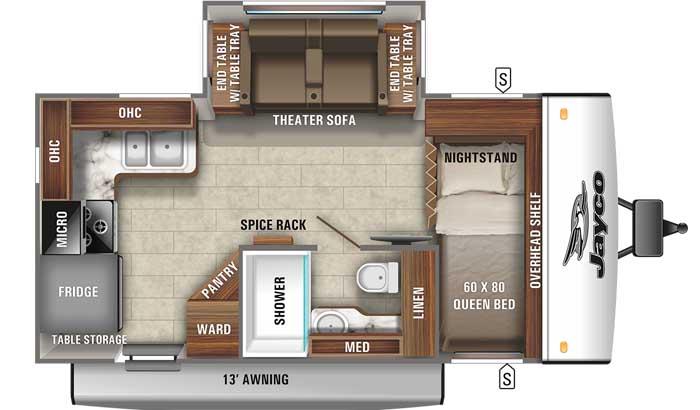 2021 Jayco Jay Feather 16RK floor plan