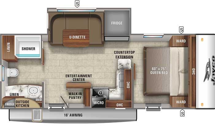 2021 Jayco Jay Feather 22RB floor plan