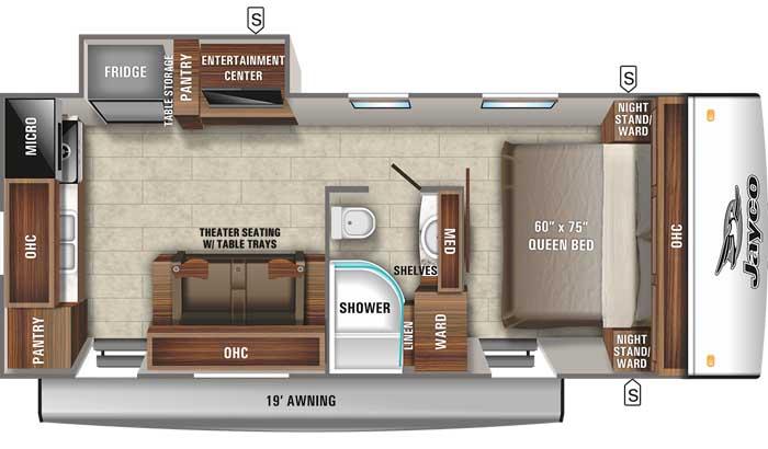 2021 Jayco Jay Feather 22RK floor plan