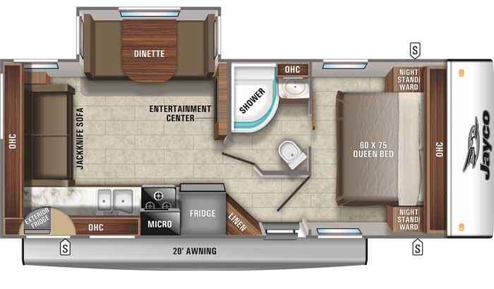 2021 Jayco Jay Feather 24RL floor plan