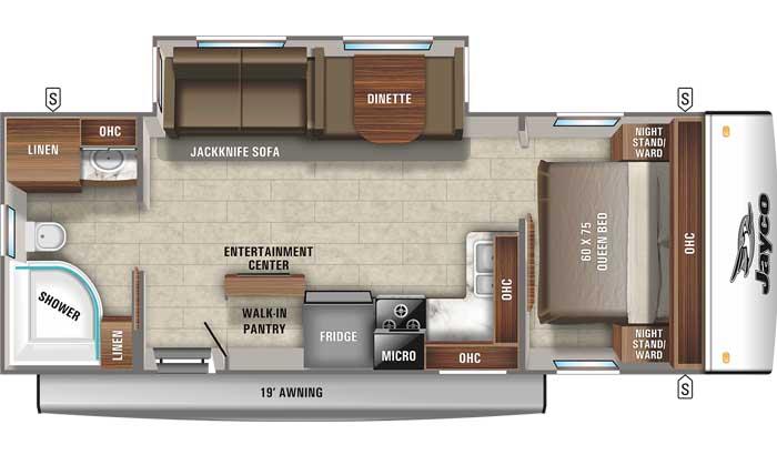 2021 Jayco Jay Feather 25RB floor plan