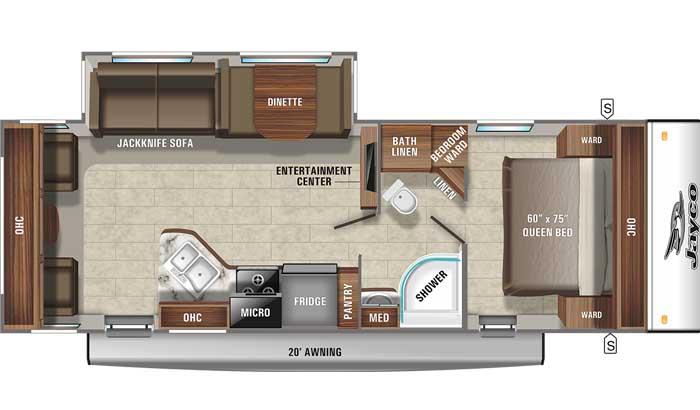 2021 Jayco Jay Feather 27RL floor plan
