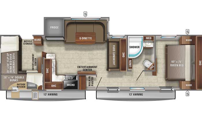 2021 Jayco Jay Feather 30QB floor plan