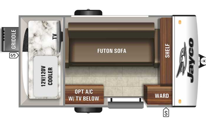 2021 Jayco Jay Feather Micro 12SRK floor plan