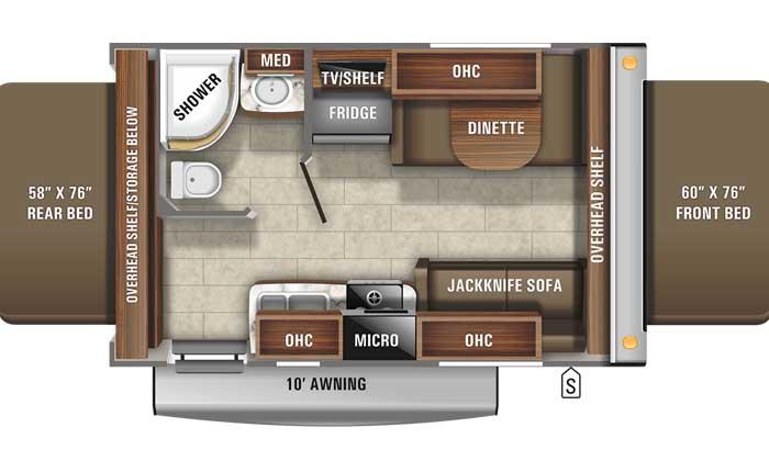 2021 Jayco Jay Feather X17Z floor plan
