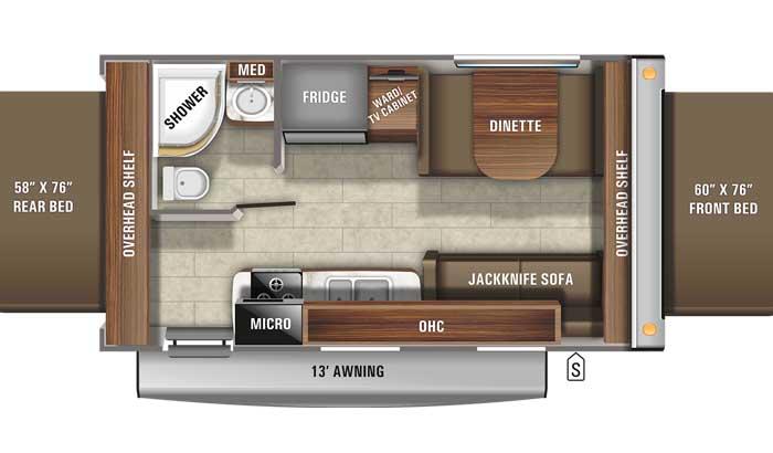 2021 Jayco Jay Feather X19H floor plan