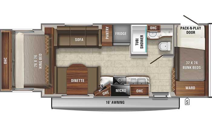 2021 Jayco Jay Feather X213 floor plan