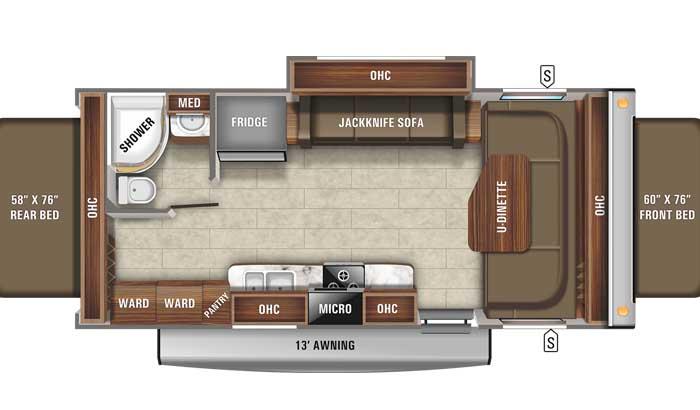 2021 Jayco Jay Feather X23B floor plan