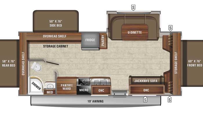 2021 Jayco Jay Feather X23E floor plan