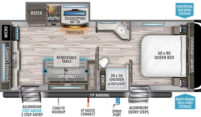 Imagine 2250RK floorplan diagram