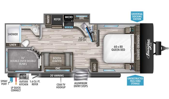 Imagine XLS 23BHE floorplan diagram