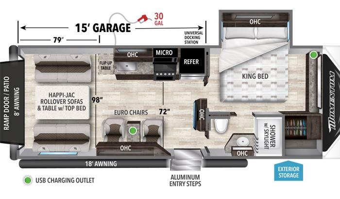 Floor plan diagram.