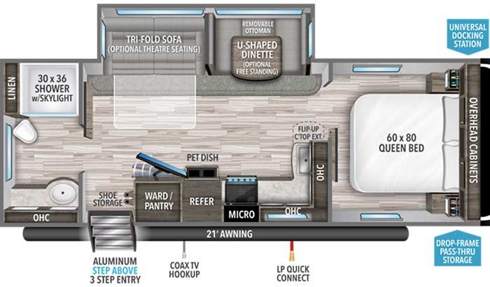 Imagine 2600RB floorplan diagram