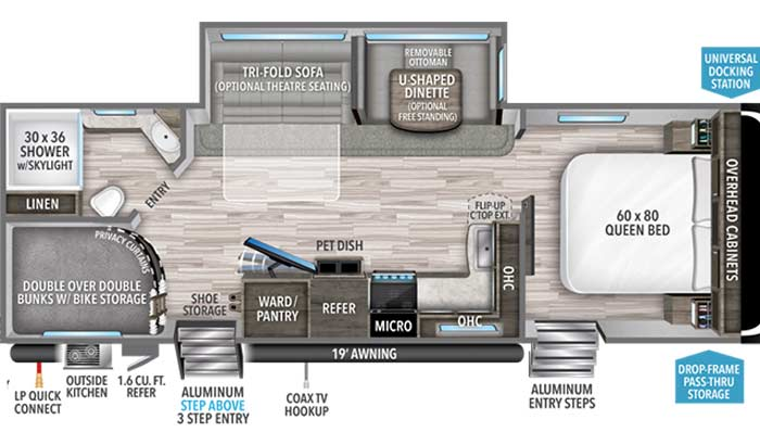Imagine 2800BH floorplan diagram