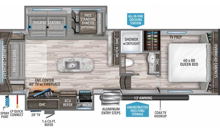 Reflection 280RS floor plan diagram
