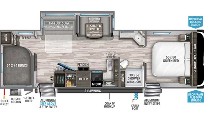 Imagine 2910BH floorplan diagram