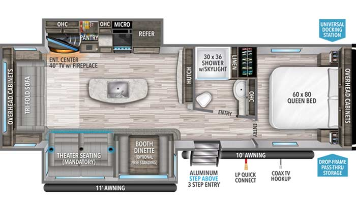 Imagine 2970RL floorplan diagram