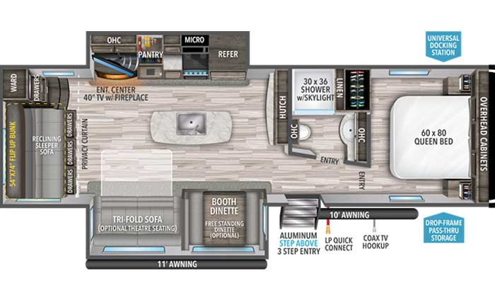 Imagine 3110BH floorplan diagram